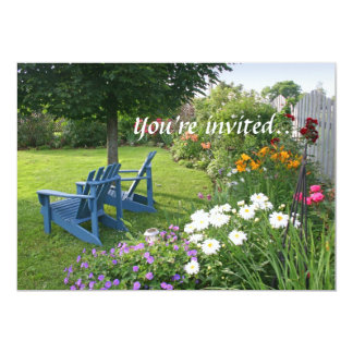 Back Yard Garden Custom Invitations