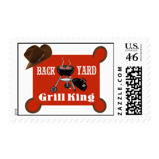 Back Yard Grill King Postage Stamps
