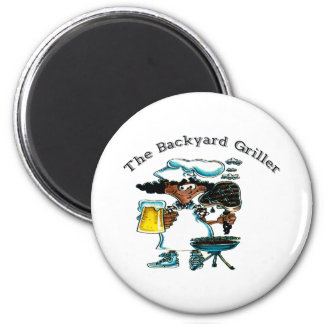Back Yard Griller Dad Magnet