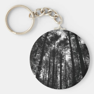 back yard trees keychain