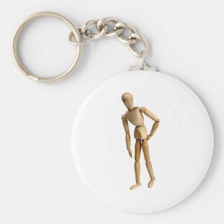 Backache Basic Round Button Keychain