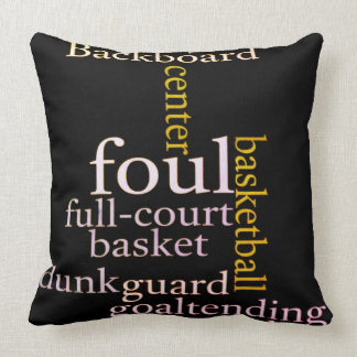 Backboard Full court basketball fanatics design Throw Pillow