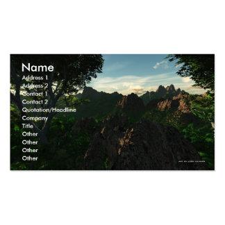 Backcountry Hike Business Card Template