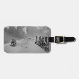 Backcountry Ski Climbers in fresh powder Bag Tag