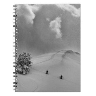 Backcountry Ski Climbers in fresh powder Notebook