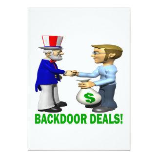 "Backdoor Deals 5"" X 7"" Invitation Card"