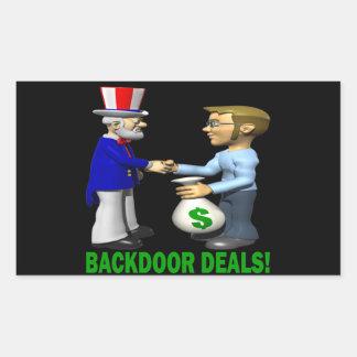 Backdoor Deals Rectangular Sticker