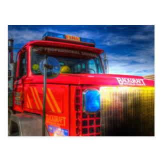 Backdraft Fire Truck Postcard
