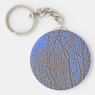 Backdrop Blue Keychain