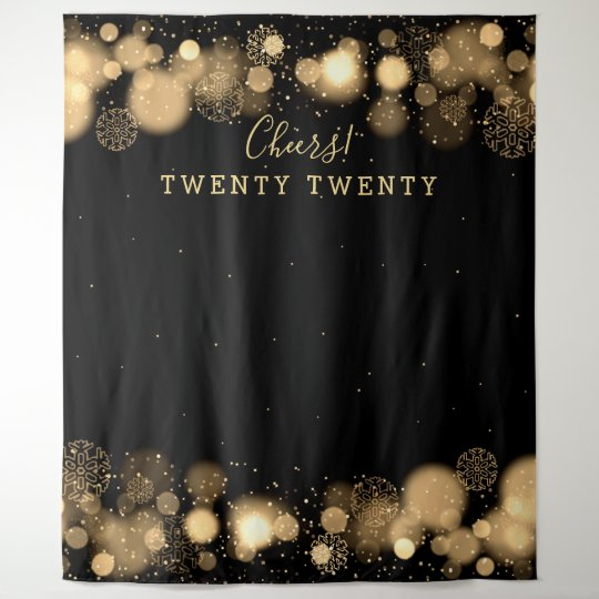 Backdrop New Years Eve Gold Winter Wonderland Zazzlecom