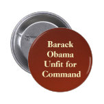 backdropapplication, Barack ObamaUnfit for Command 2 Inch Round Button