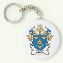 Backer Family Crest Keychain
