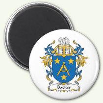 Backer Family Crest Magnet