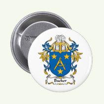 Backer Family Crest Button