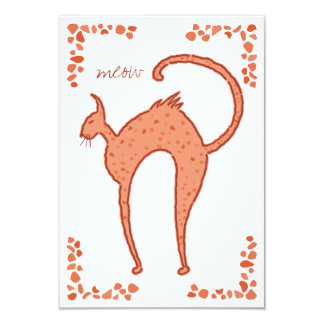 Backfence Cat  Chorus 3x5 Card