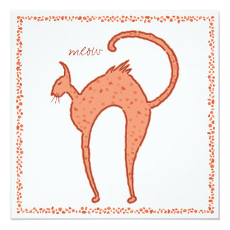 Backfence Cat  Chorus 5.25x5.25 Card