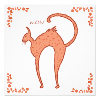 Backfence Cat Chorus 5 25x5 25 Personalized Invitations