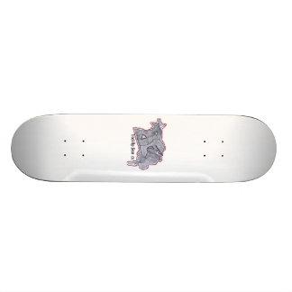 Backflip White Skateboard Deck