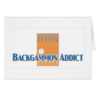 Backgammon addict's greetings card