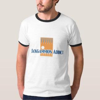 Backgammon Addict's ringer-t T-Shirt