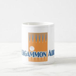 Backgammon Addict's white mug