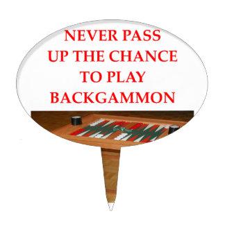 backgammon decoración para tarta