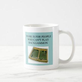BACKGAMMON beats work Coffee Mug