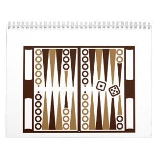Backgammon board calendar