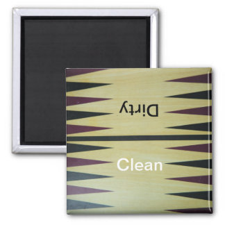 Backgammon Board Clean-Dirty Dishwasher Magnet