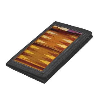Backgammon Board Design Wallet Tri-fold Wallets