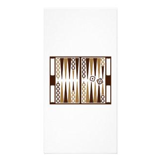 Backgammon board photo card