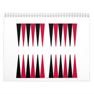 Backgammon Calendario De Pared