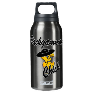 Backgammon Chick #4 Insulated Water Bottle