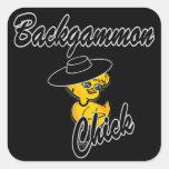 Backgammon Chick #4 Sticker