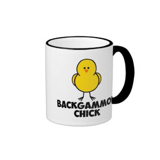Backgammon Chick Ringer Coffee Mug