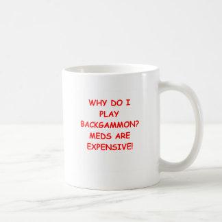 backgammon coffee mug