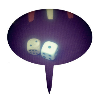 Backgammon dice cake toppers