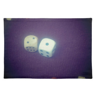 Backgammon dice placemat