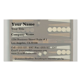 Backgammon game board Double-Sided standard business cards (Pack of 100)