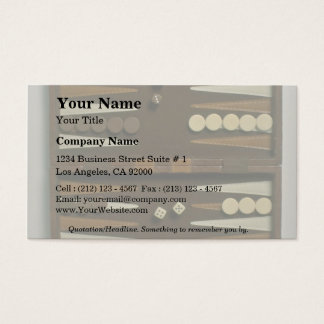 Backgammon game board business card