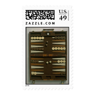 Backgammon game board stamps