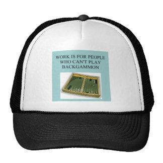 backgammon game trucker hat