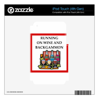 BACKGAMMON iPod TOUCH 4G DECAL