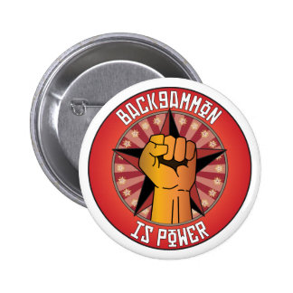 Backgammon Is Power Pinback Button