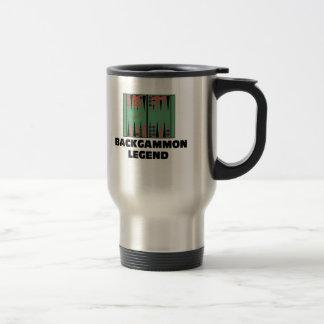Backgammon Legend 15 Oz Stainless Steel Travel Mug