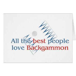 Backgammon Lover's greetings Card