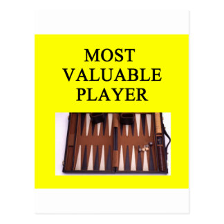 BACKGAMMON most valuable player Postcard