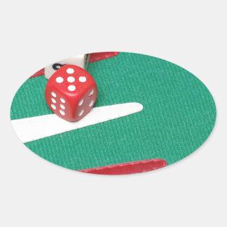 Backgammon Pegatina Ovalada