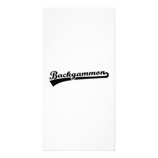 Backgammon Photo Card