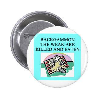 BACKGAMMON PINBACK BUTTON
